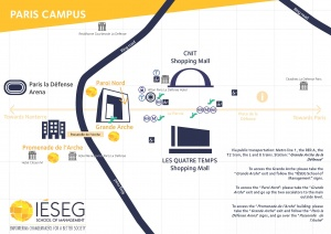 Parisian Campus map IESEG_hotel